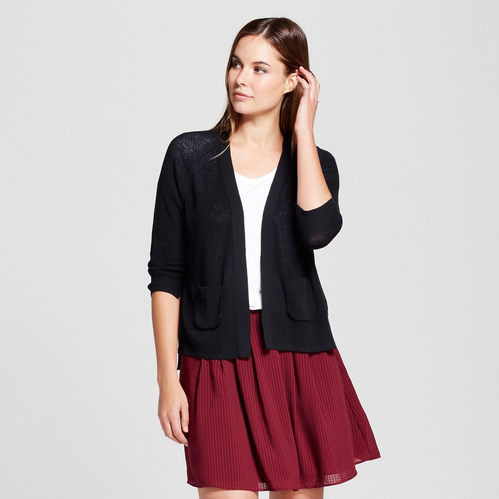 Womens Open Layering Cardigan - A New Day Black M
