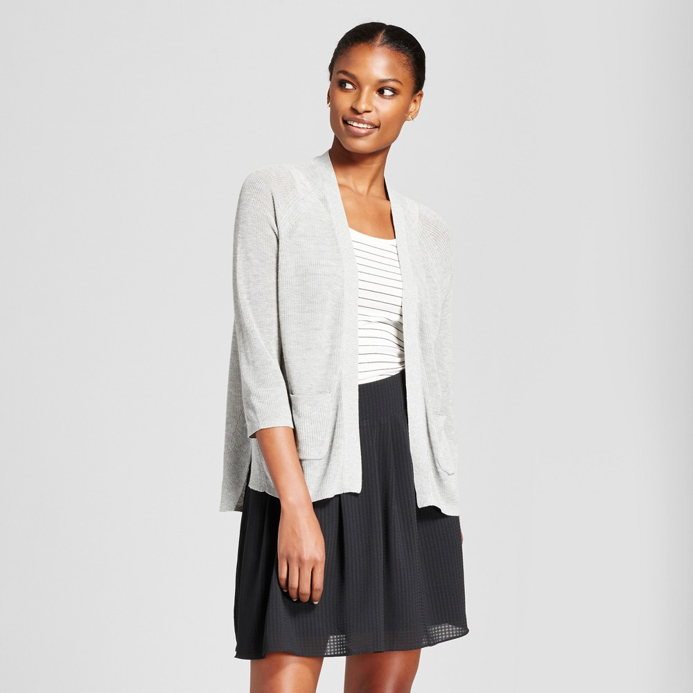Womens Open Layering Cardigan - A New Day Gray L