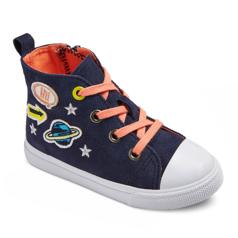Toddler Girls Jory High Top Sneakers 8 - Cat & Jack - Navy, Blue