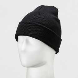 Men's Opposite Knit Classic Cuffed And Marled Hat - Goodfellow & Co™ Black One Size