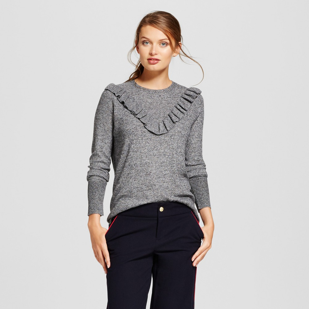 Womens Ruffle Any Day Pullover - A New Day Gray L