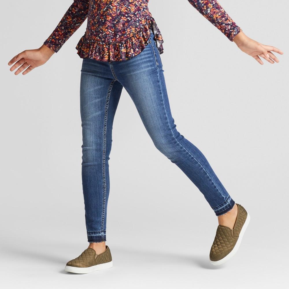 Girls High Rise Super Skinny Jeans - Cat & Jack Medium Blue 8