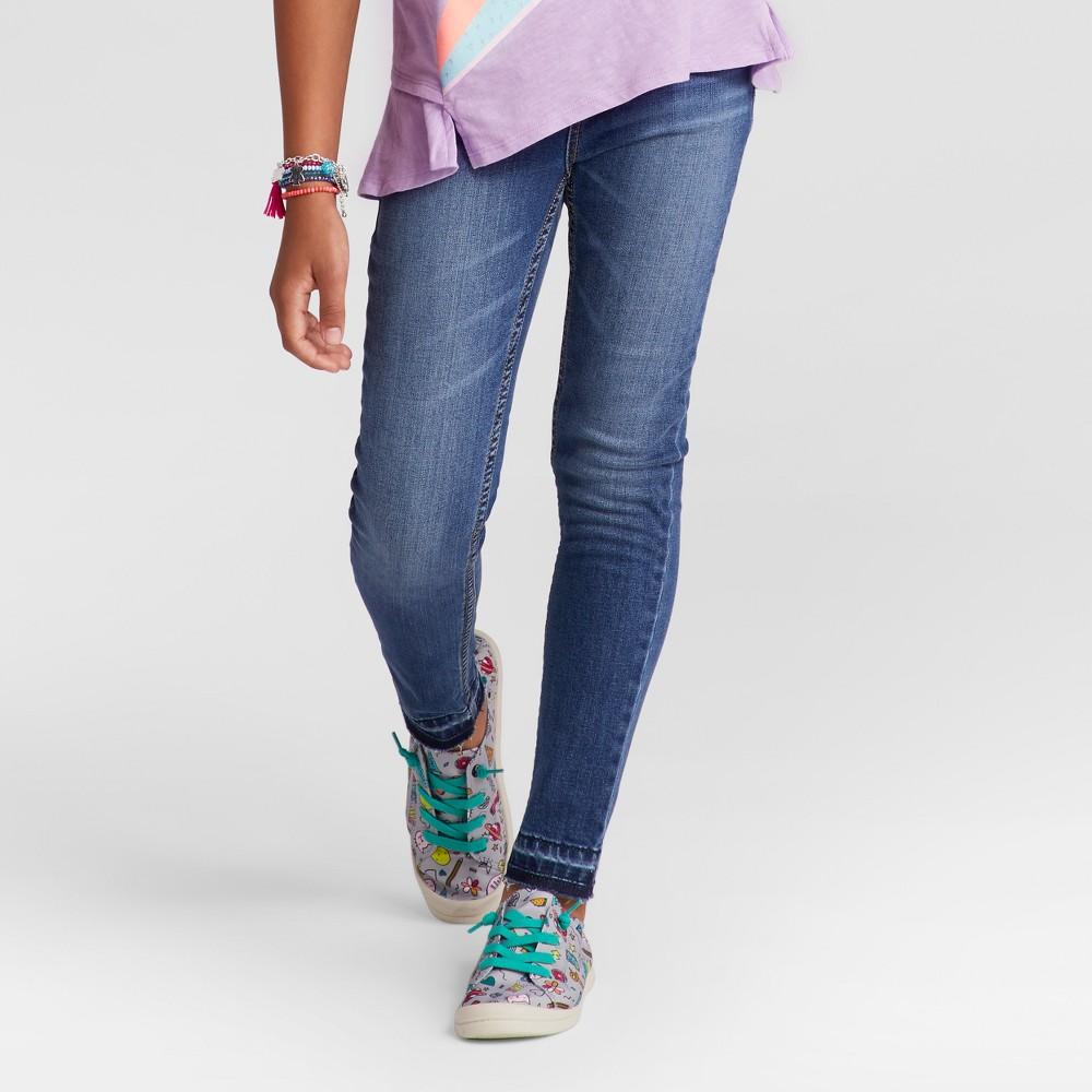 Girls High Rise Super Skinny Jeans - Cat & Jack Medium Blue 12