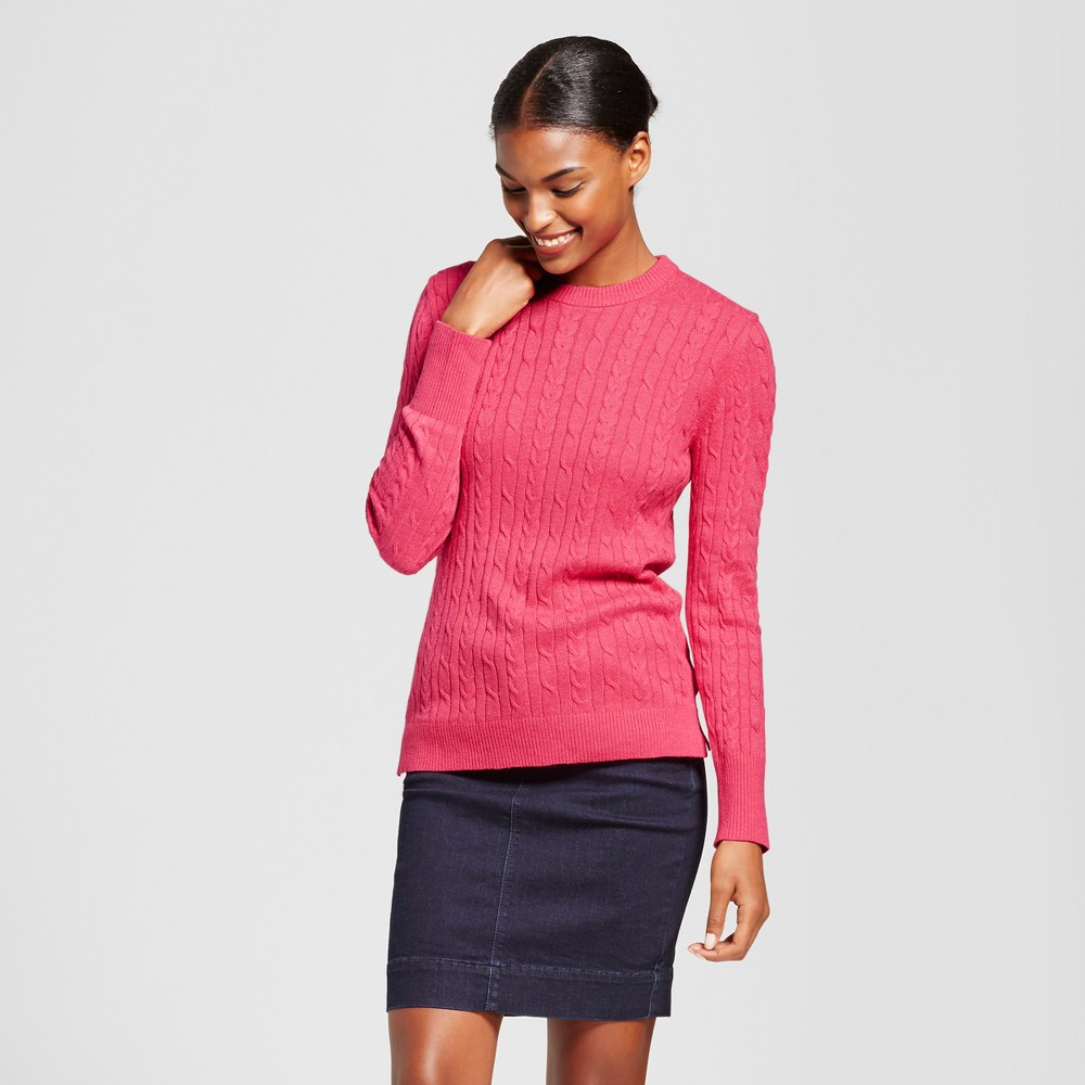 Womens Cable Any Day Pullover - A New Day Pink M