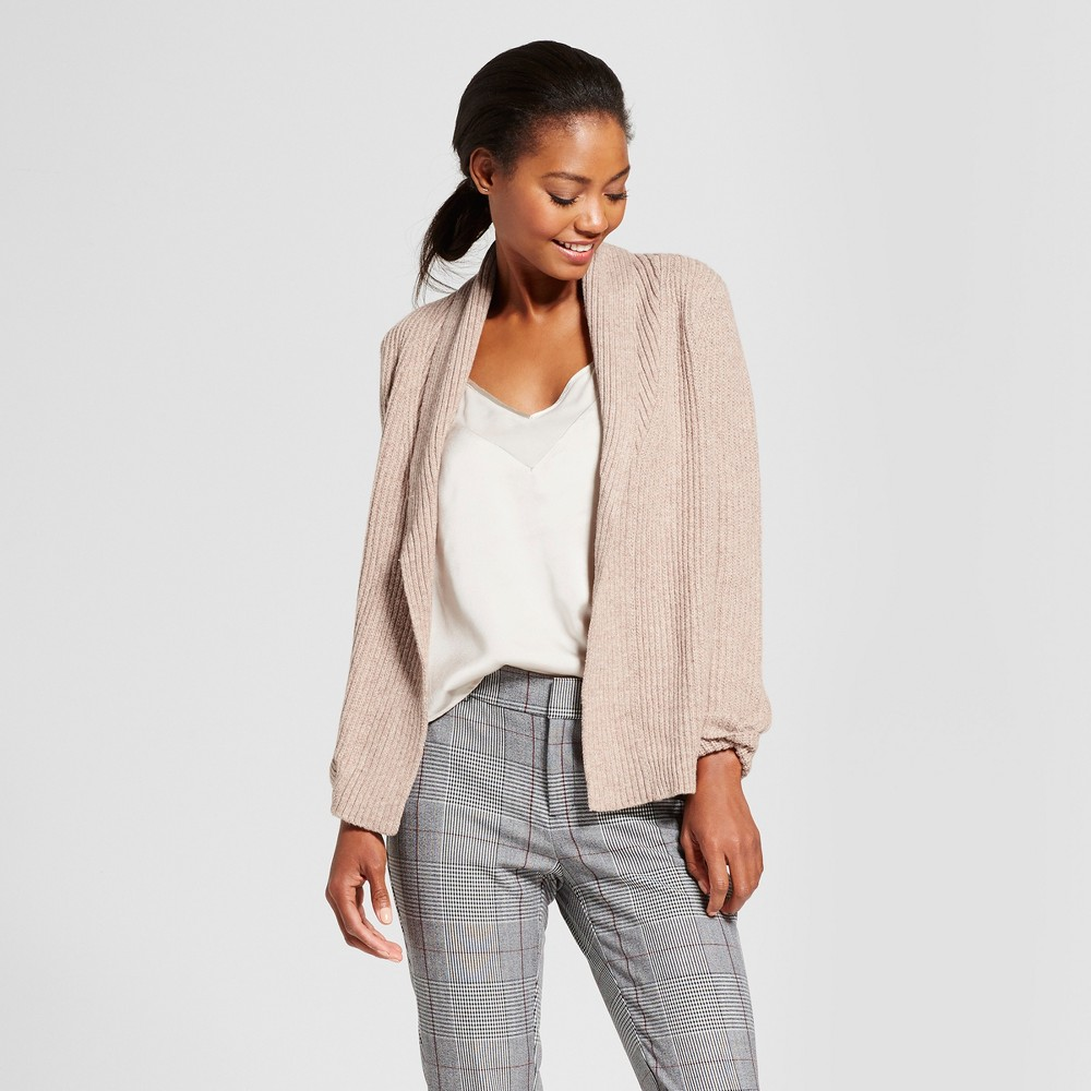 Womens Shawl Collar Cardigan - A New Day Taupe (Brown) S