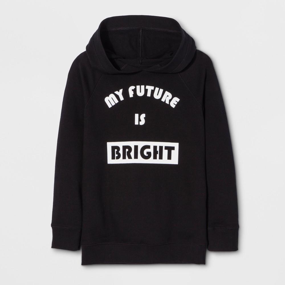 Girls Long Sleeve My Future Is Bright Sweatshirt - Cat & Jack Black XL
