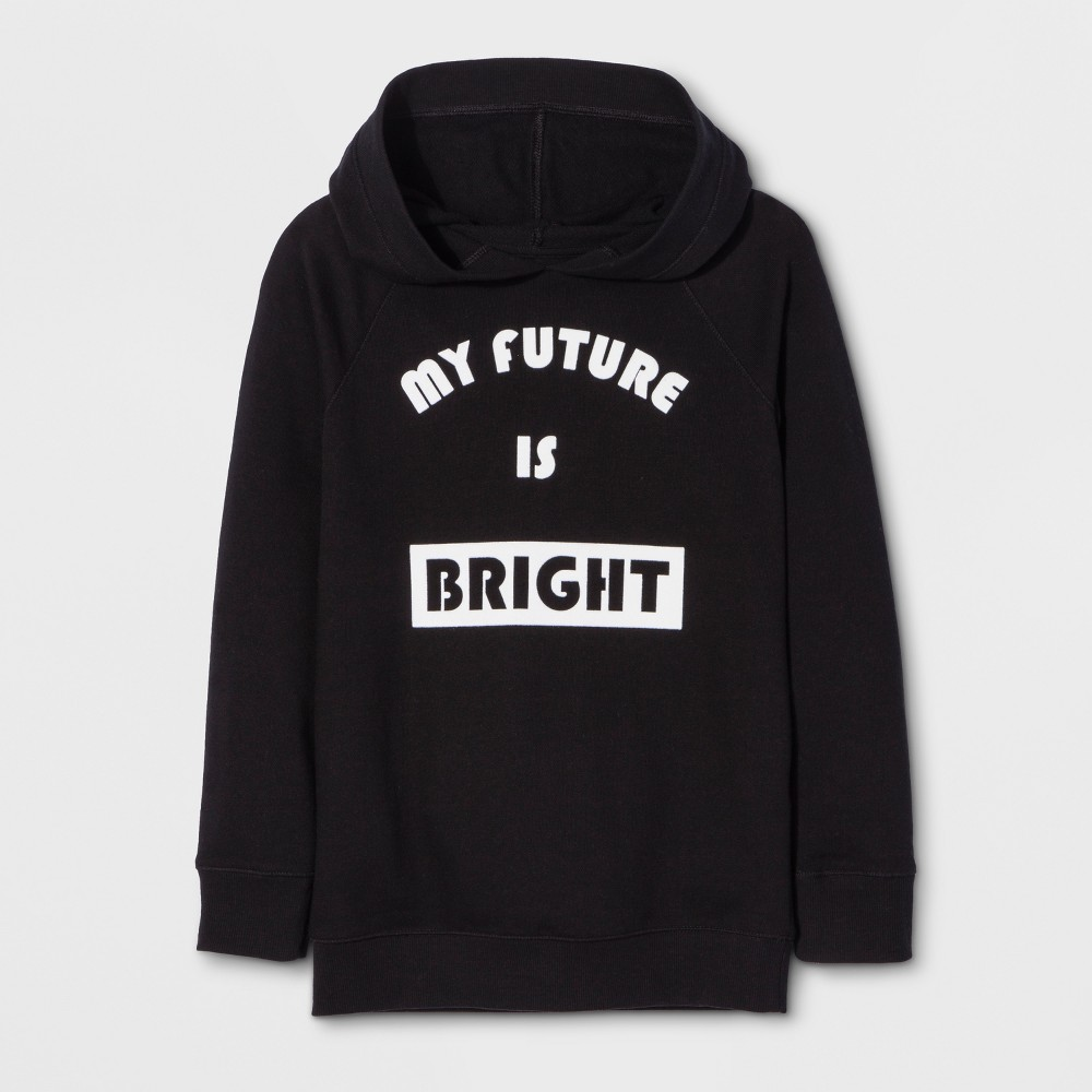 Girls Long Sleeve My Future Is Bright Sweatshirt - Cat & Jack Black XS