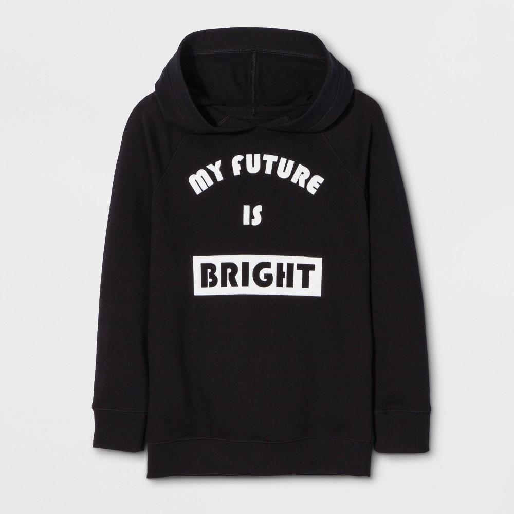 Girls Long Sleeve My Future Is Bright Sweatshirt - Cat & Jack Black M