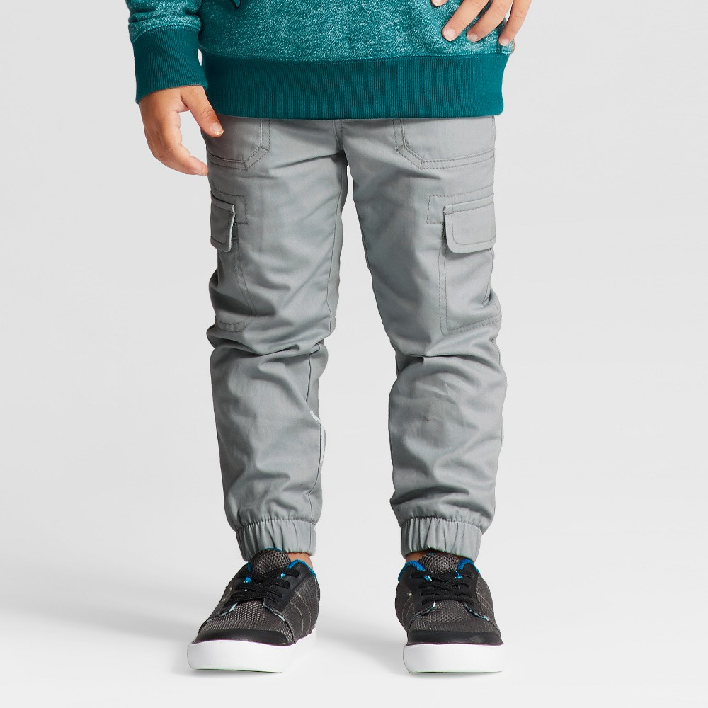 Toddler Boys Lined Pull-On Pants - Cat & Jack Gray 4T