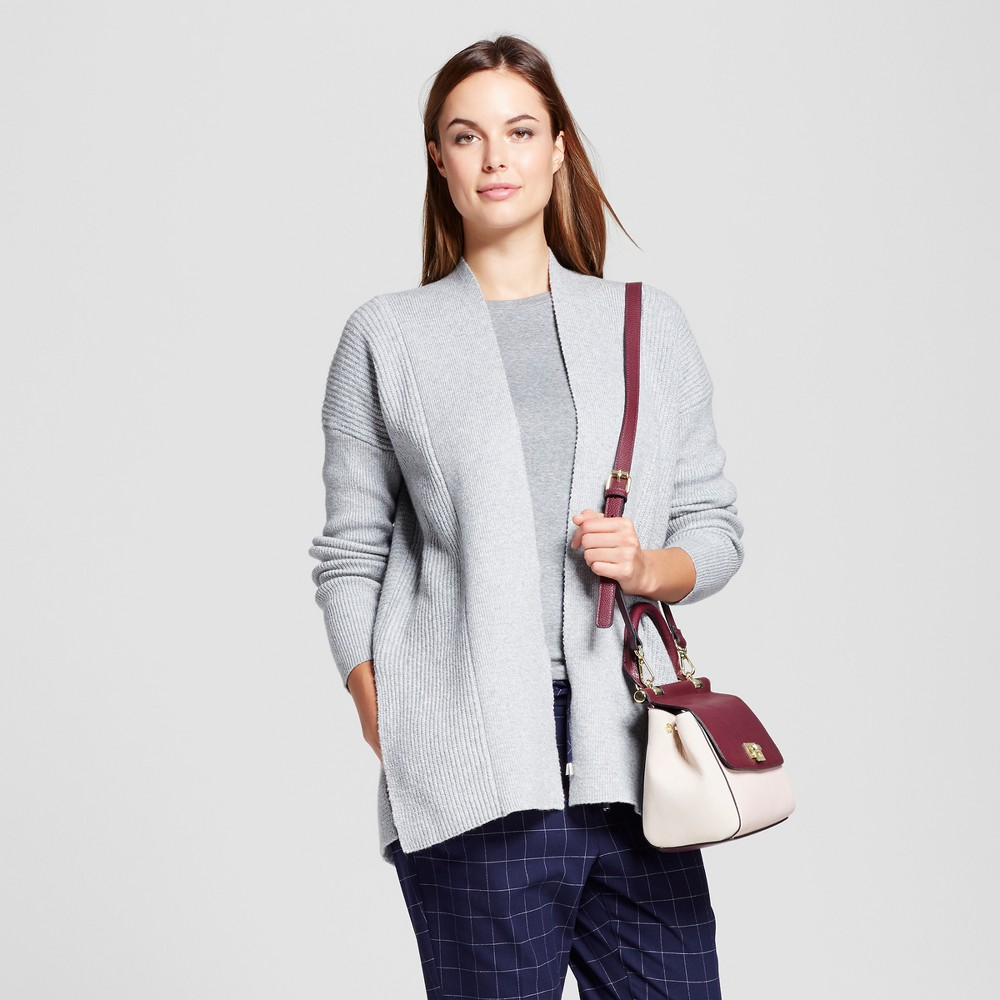 Womens Open Cardigan - A New Day Gray XS