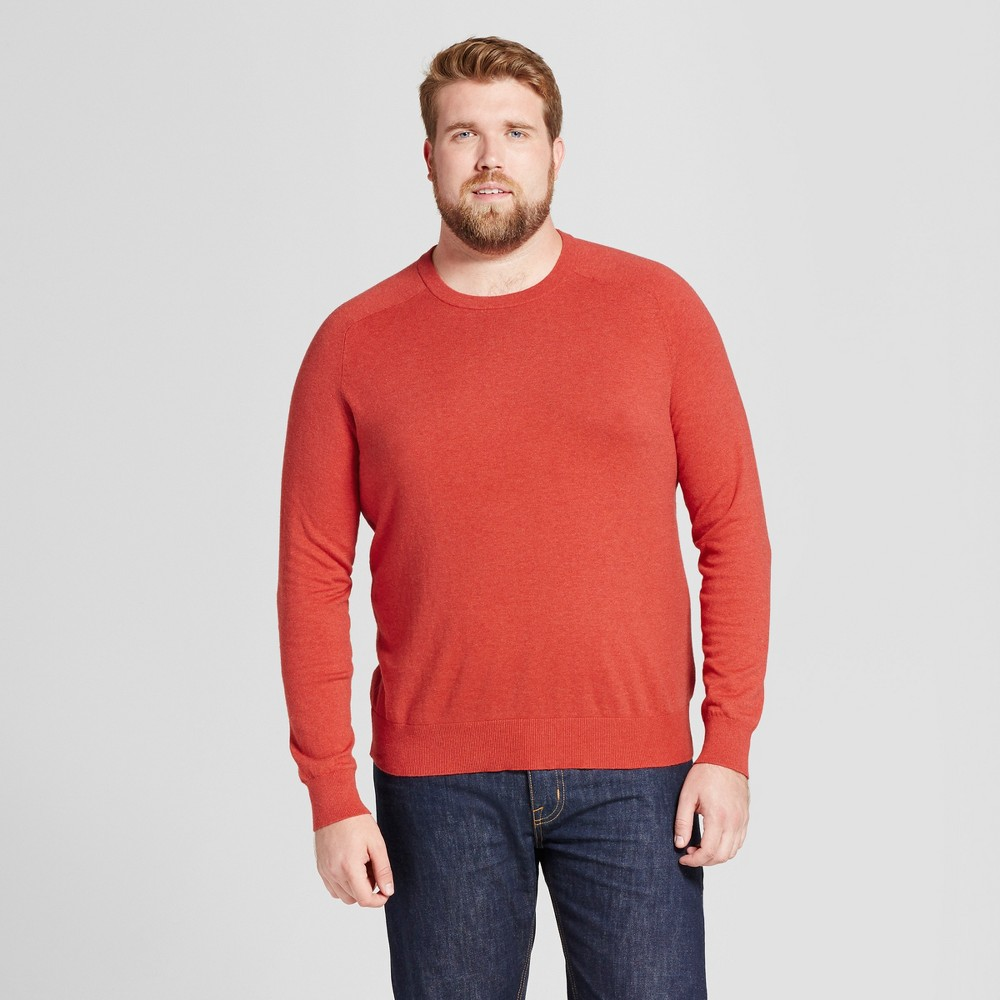 Mens Big & Tall Crew Neck Sweater - Goodfellow & Co Red Xlt