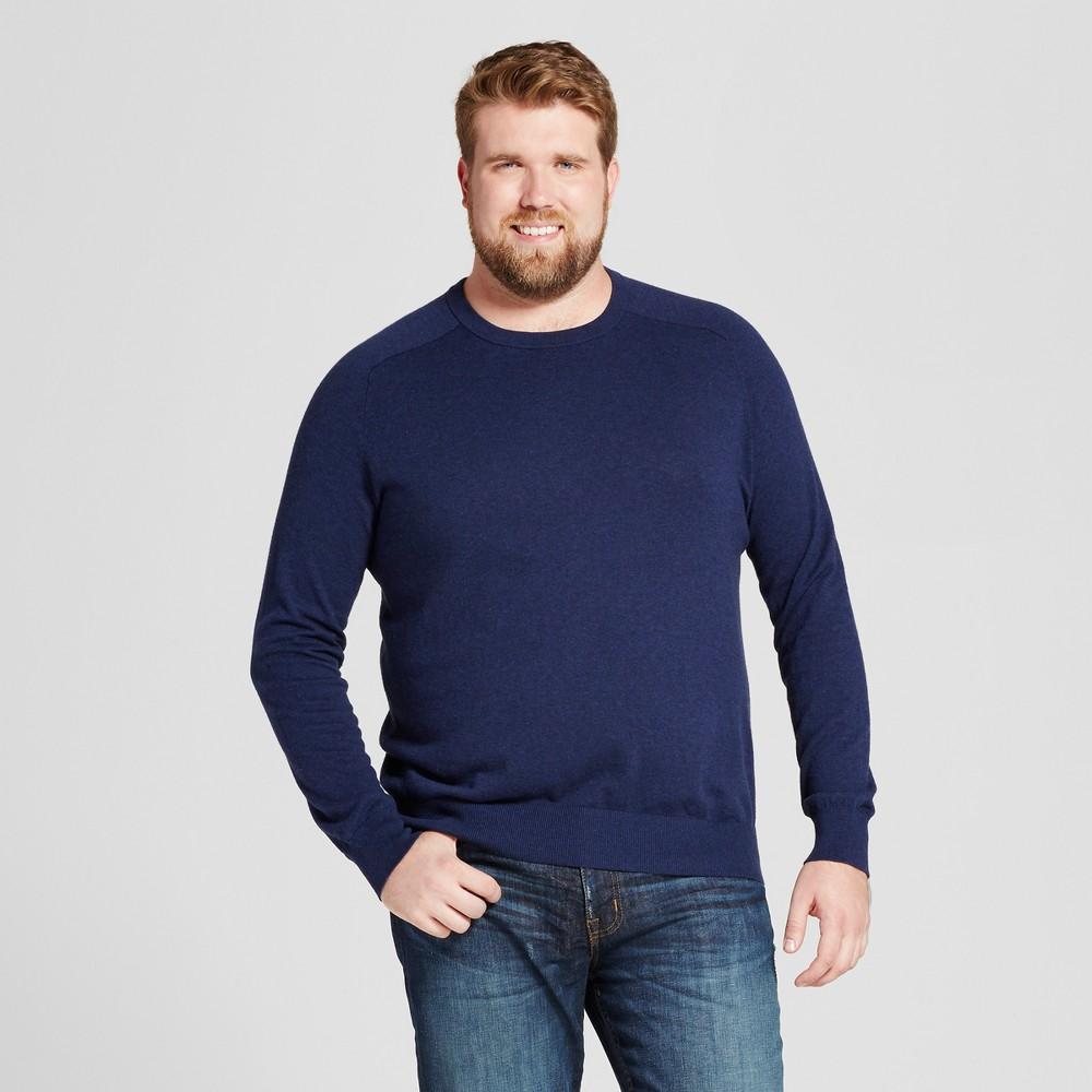 Mens Big & Tall Crew Neck Sweater - Goodfellow & Co Navy (Blue) 2XBT