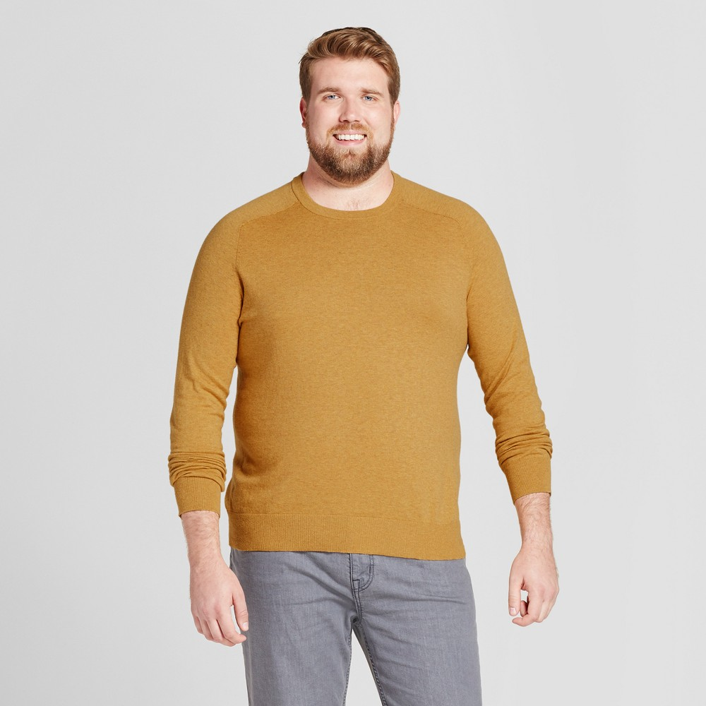 Mens Big & Tall Crew Neck Sweater - Goodfellow & Co Gold 3XBT
