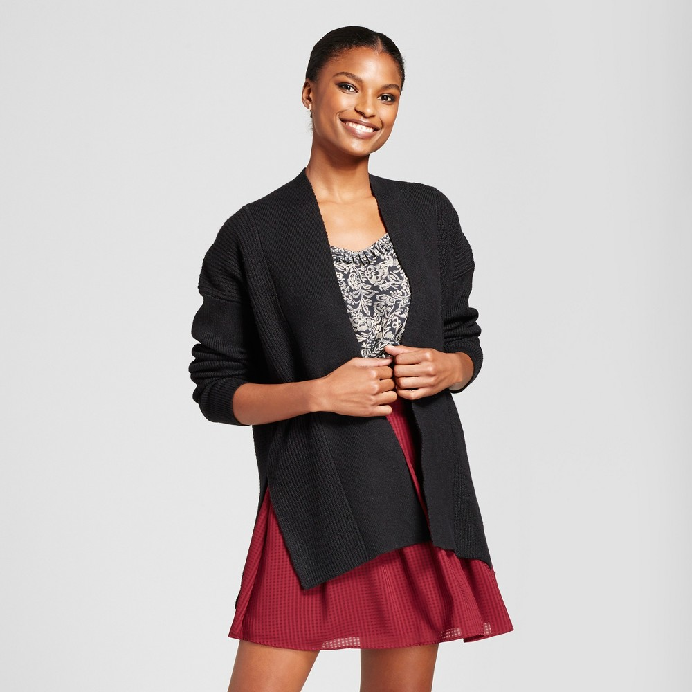 Womens Open Cardigan - A New Day Black S