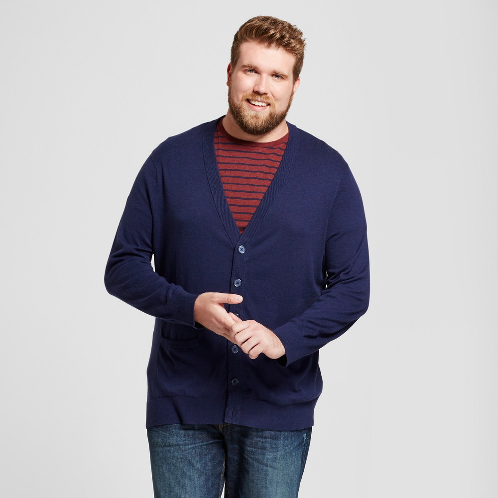Mens Big & Tall Cardigan Sweater - Goodfellow & Co Navy (Blue) MT