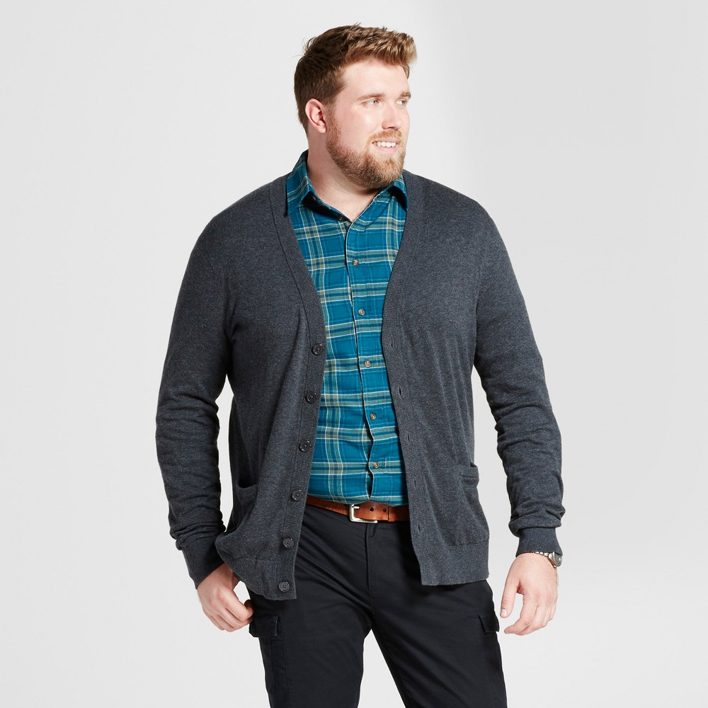 Mens Big & Tall Cardigan Sweater - Goodfellow & Co Black 2XBT, Black Heather