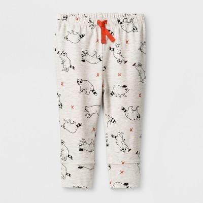 Baby Boys' Racoon Jogger Pants - Cat & Jack™ Heather 12M