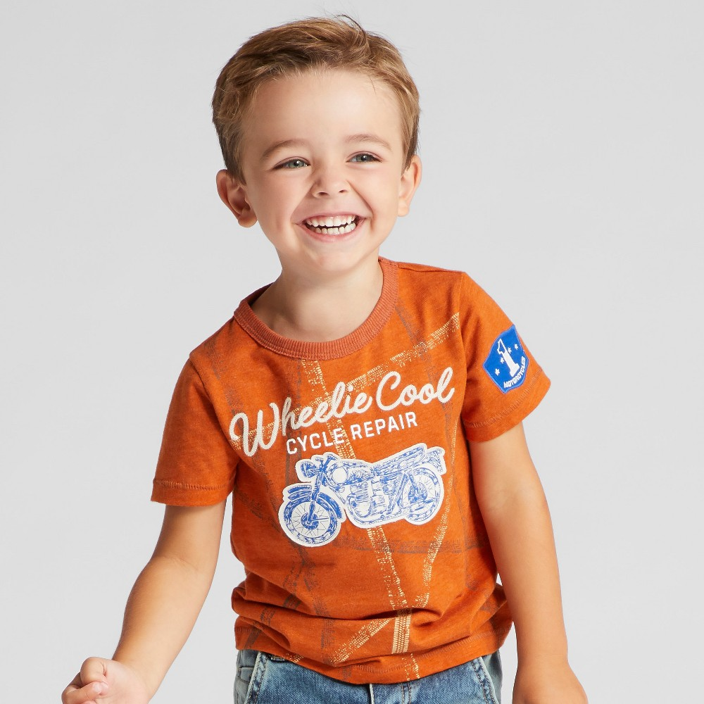 Toddler Boys T-Shirt - Genuine Kids from OshKosh Orange 4T