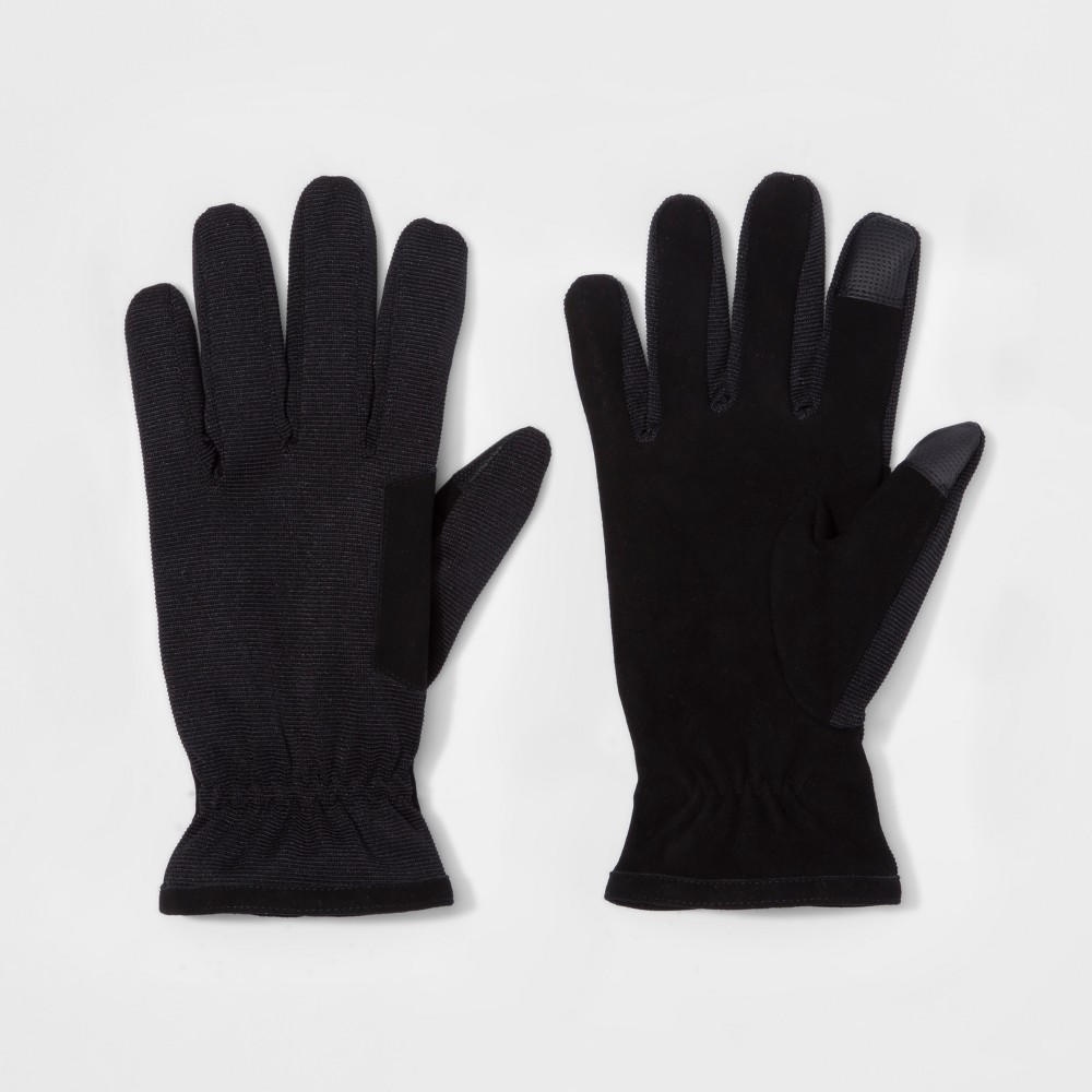 Mens Synthetic Dress Gloves - Goodfellow & Co Black L
