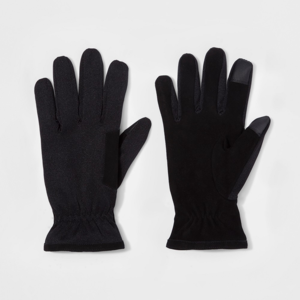 Mens Synthetic Dress Gloves - Goodfellow & Co Black M