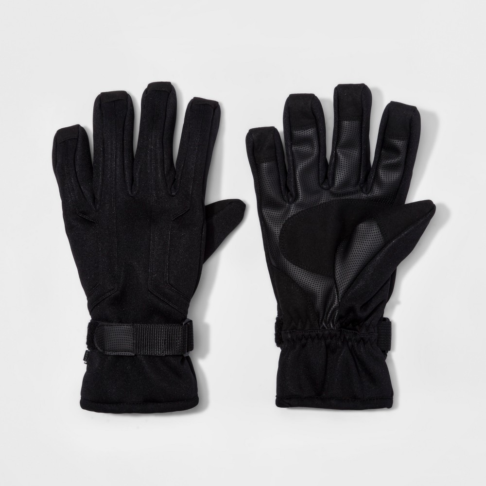 Mens Cuff Closure Knit Wind Proof Ski Gloves - Goodfellow & Co Black M