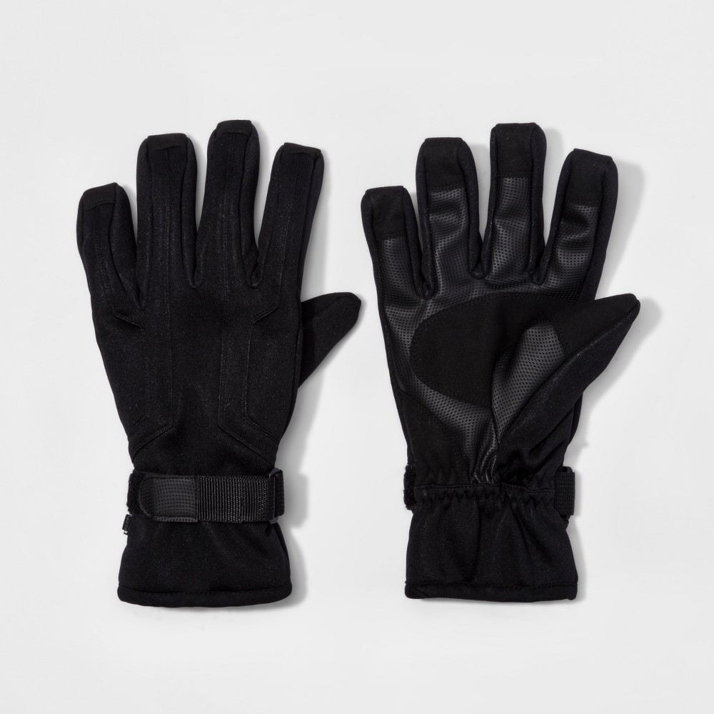 Mens Cuff Closure Knit Wind Proof Ski Gloves - Goodfellow & Co Black XL