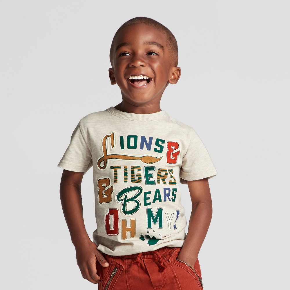 Toddler Boys T-Shirt - Genuine Kids from OshKosh Oatmeal 3T, Gray