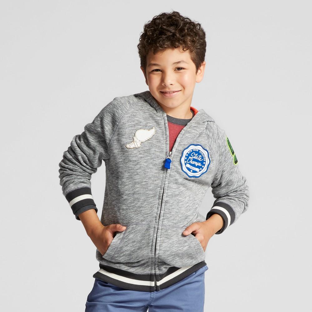 Boys Long Sleeve Hoodie Sweatshirt - Cat & Jack Gray XS