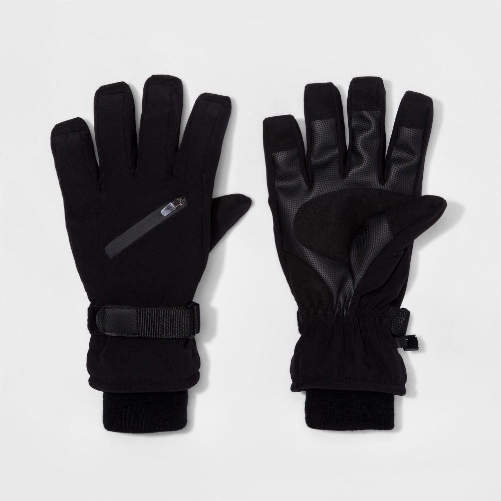 Mens Zip Pocket Wind Proof Ski Gloves - Goodfellow & Co Black M