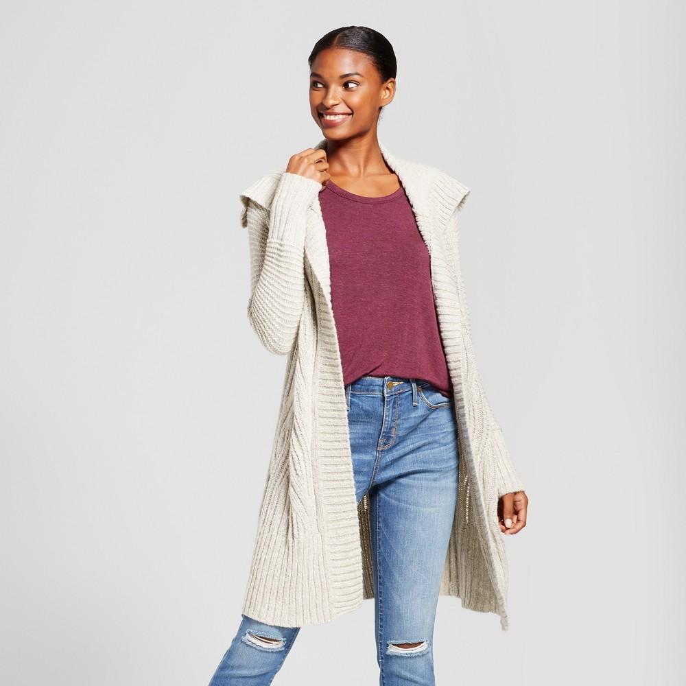 Womens Shawl Collar Car Coat - A New Day Oatmeal Xxl