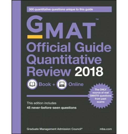 GMAT Official Guide Quantitative Review 2018 -  (Paperback) - image 1 of 1