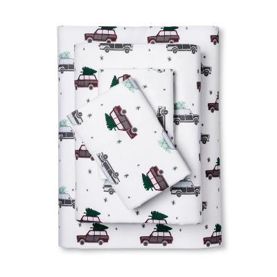 Wondershop Flannel Sheet Set Queen Car Print