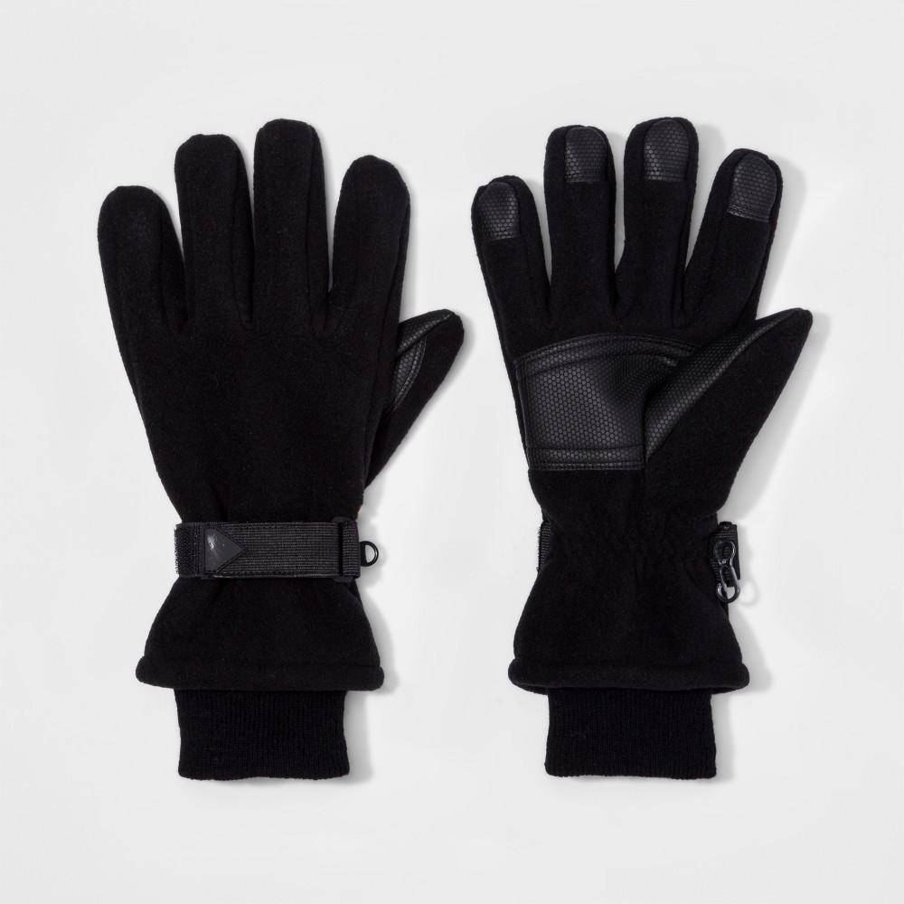 Mens Ski Windproof Fleece Gloves - Goodfellow & Co Black M