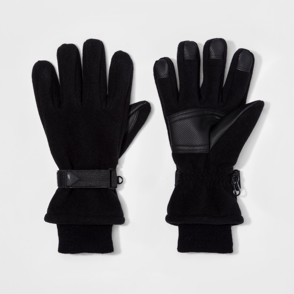 Mens Ski Windproof Fleece Gloves - Goodfellow & Co Black XL