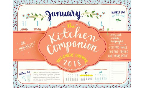 Kitchen Companion Page-a-Week 2018 Calendar -  (Paperback) - image 1 of 1