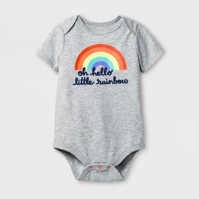 Baby Girls' Little Rainbow Bodysuit - Cat & Jack™ Gray 6-9 M