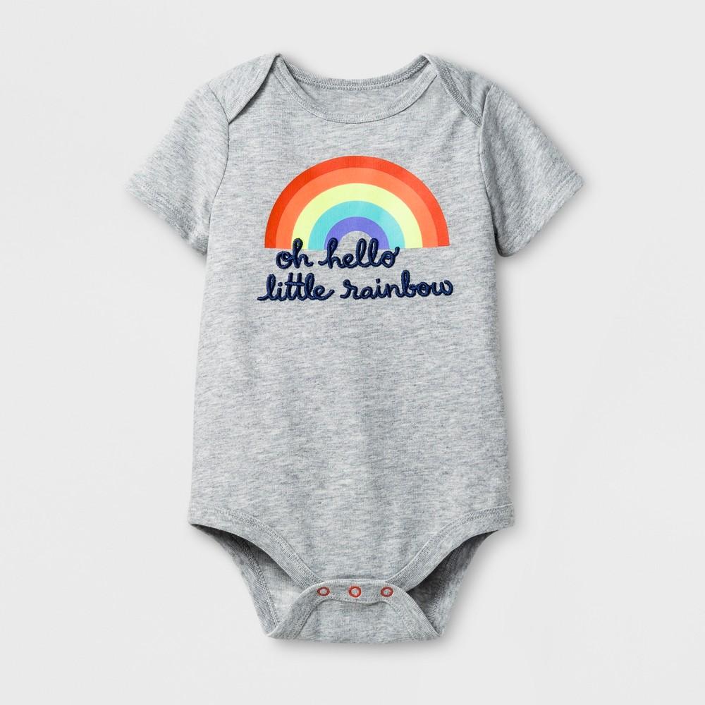 Baby Girls Little Rainbow Bodysuit - Cat & Jack Gray 6-9 M