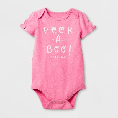 Baby Girls' Peekaboo Bodysuit - Cat & Jack™ Pink 0-3 Months