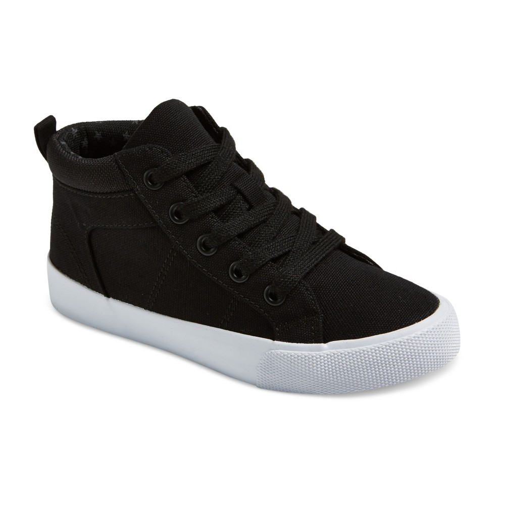 Boys Gladden Canvas High Top Sneakers - Cat & Jack Black 13