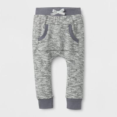Baby Girls' Kanga Jogger Pants - Cat & Jack™ Black 0-3 M