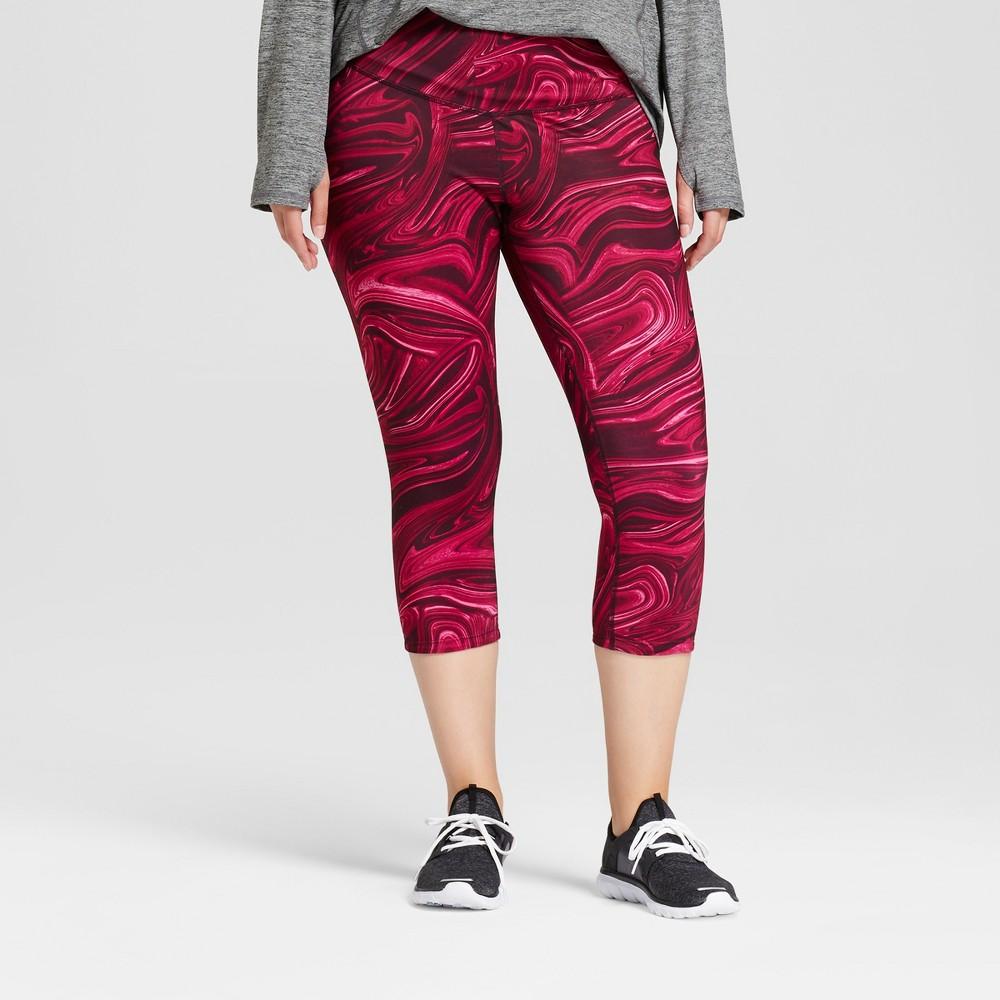 Womens Plus-Size Embrace Reversible Leggings - C9 Champion Raspberry 1X
