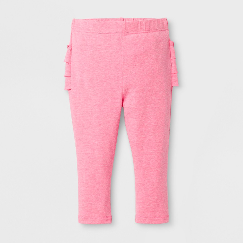 Baby Girls Ruffle Bum Leggings - Cat & Jack Pink 0-3 M