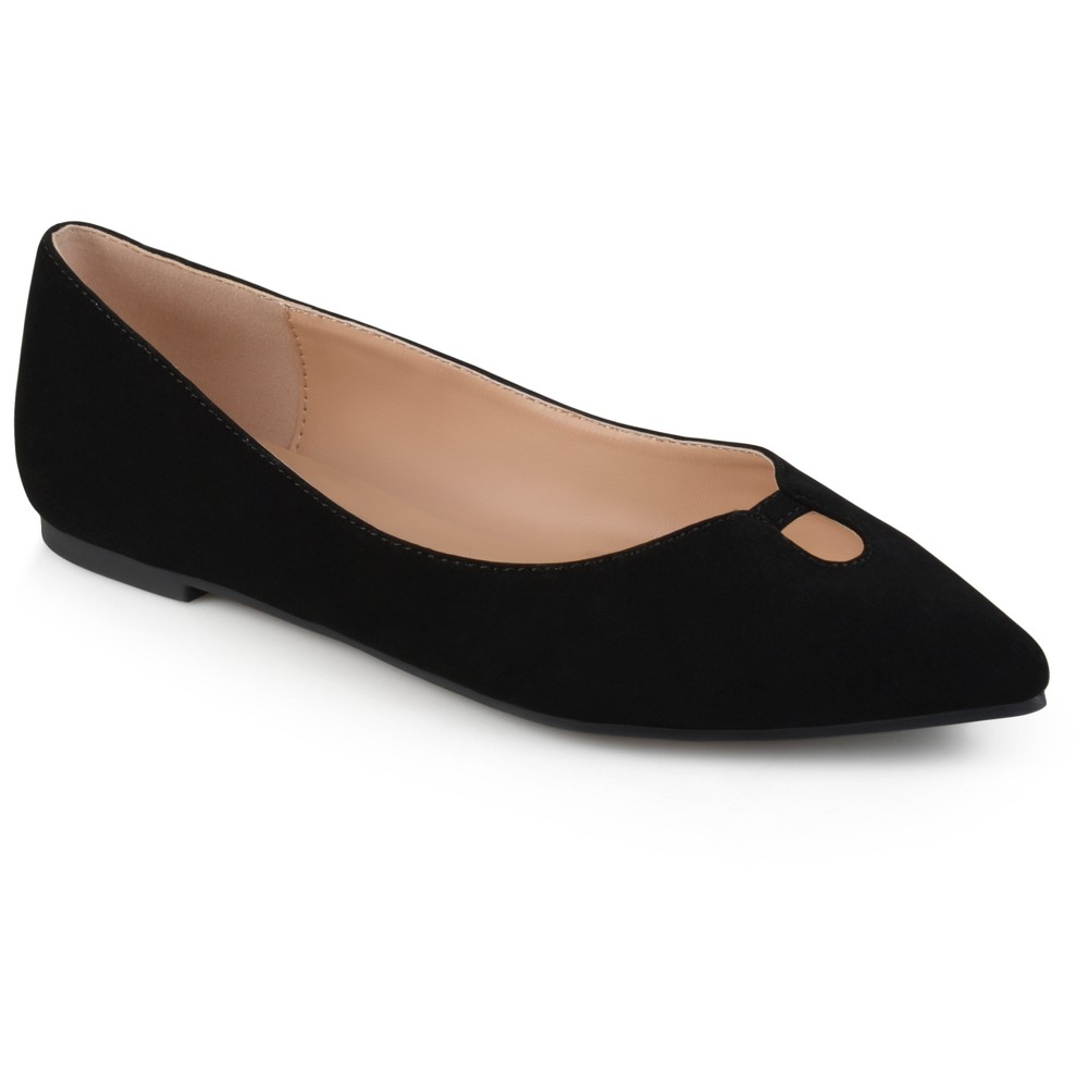 Women's Journee Collection Hildy Classic Pointed Toe Flats - Black 7.5