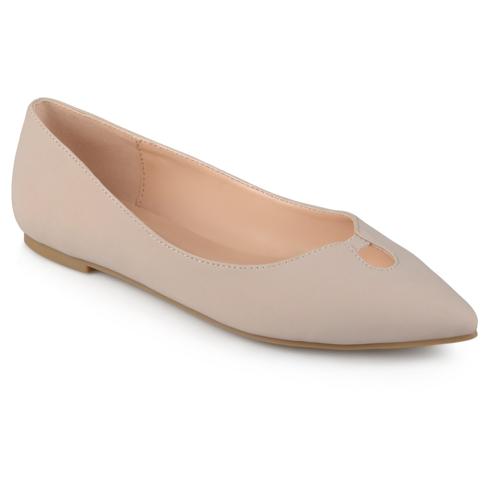 Womens Journee Collection Hildy Classic Pointed Toe Flats - Taupe (Brown) 7.5