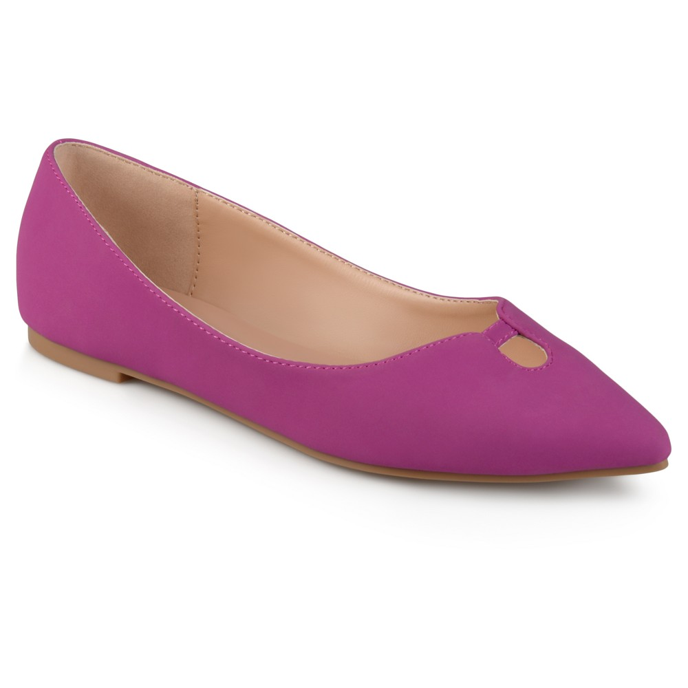 Womens Journee Collection Hildy Classic Pointed Toe Flats - Plum Purple 8.5