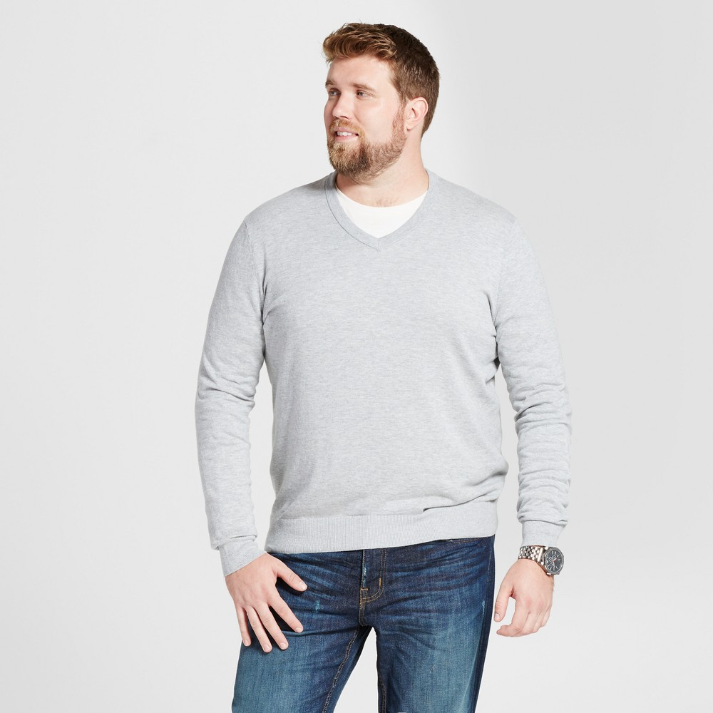 Mens Big & Tall V-Neck Sweater - Goodfellow & Co Heather Gray 3XB