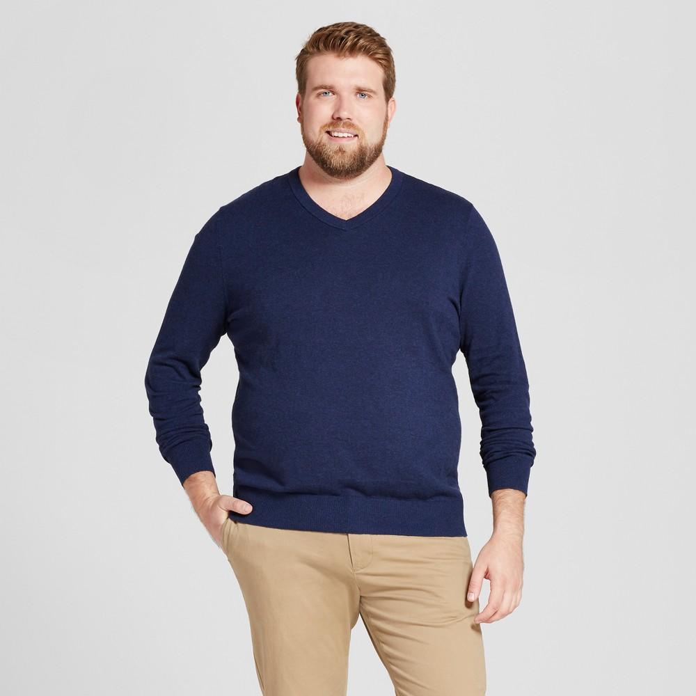 Mens Big & Tall V-Neck Sweater - Goodfellow & Co Navy (Blue) 2XB
