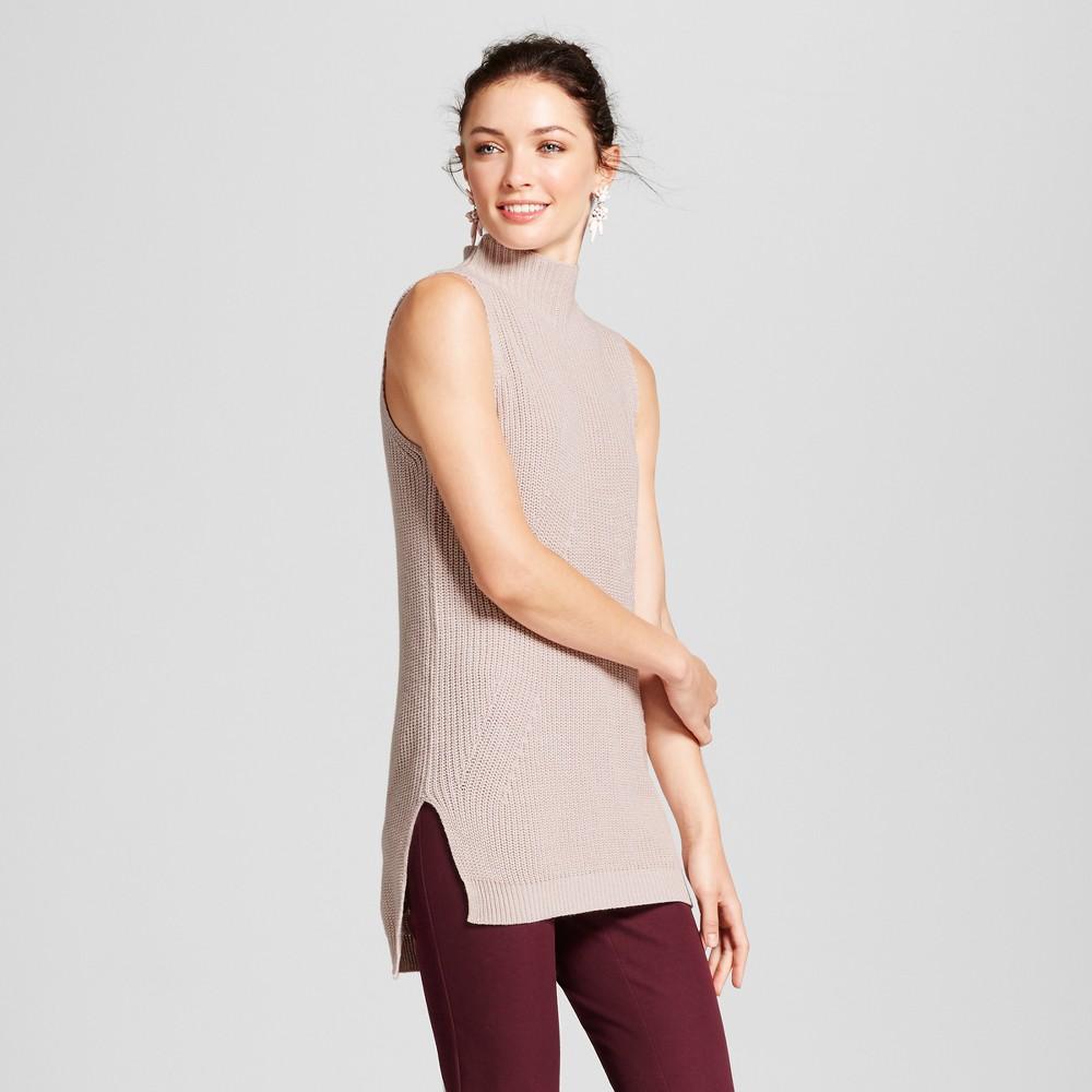 Womens Sleeveless Sweater - A New Day Light Pink XS