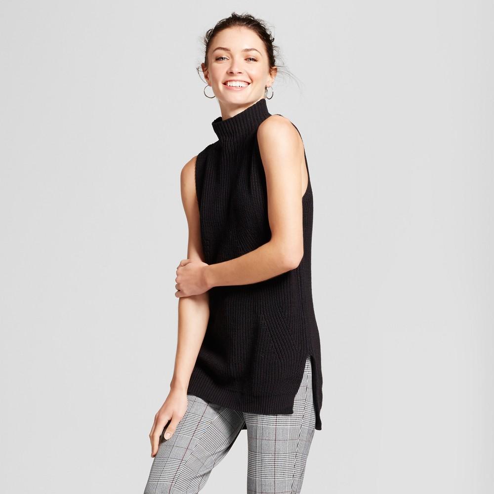 Womens Sleeveless Sweater - A New Day Black XS