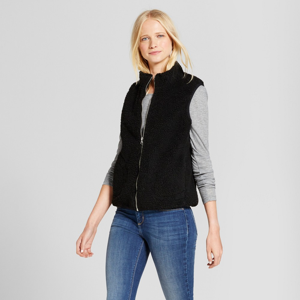 Womens Sherpa Vest - Mossimo Supply Co. Black Xxl